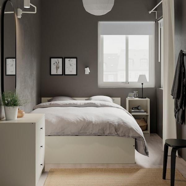 GURSKEN Sängynrunko + pääty, vaalea beige/Luröy, 140x200 cm