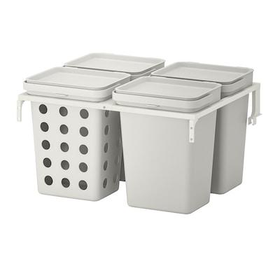 HÅLLBAR Jätteidenlajitteluratkaisu, METOD-laatikkoon varustettu ilmanvaihdolla/vaaleanharmaa, 40 l