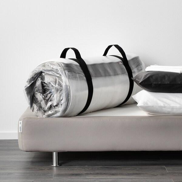 HAMARVIK Joustinpatja, kiinteä/tumma beige, 140x200 cm