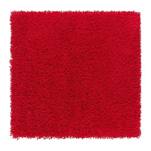 HAMPEN Matto, korkea nukka , punainen Pituus: 80 cm Leveys: 80 cm Neliömassa: 2050 g/m² Nukan tiheys: 1012 g/m² Nukan paksuus: 30 mm