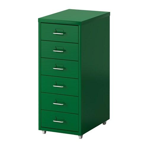 HELMER Laatikosto + pyörät  vihreä  IKEA