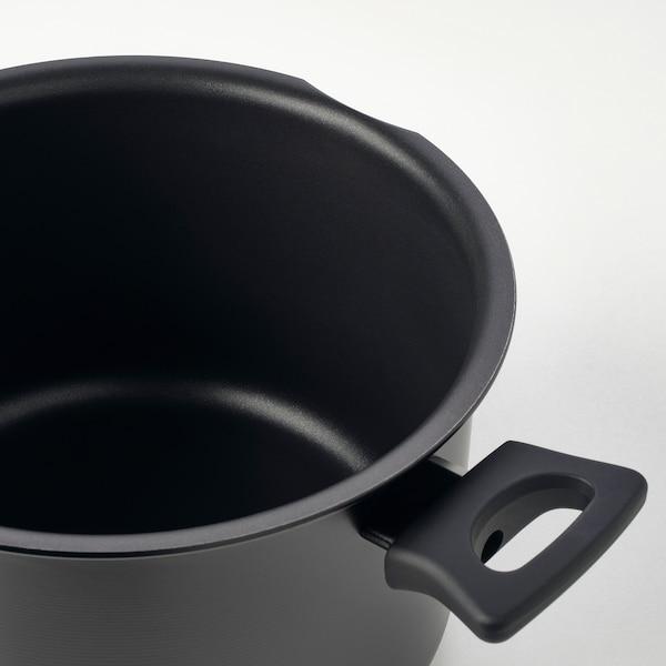 HEMLAGAD kannellinen kattila musta 15 cm 25 cm 5 l
