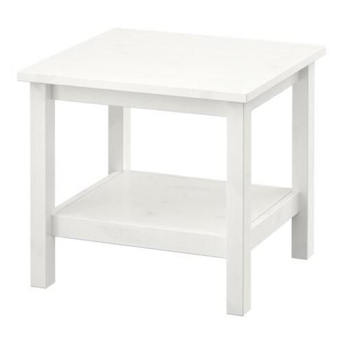 HEMNES Apupöytä  valkoiseksi petsattu  IKEA