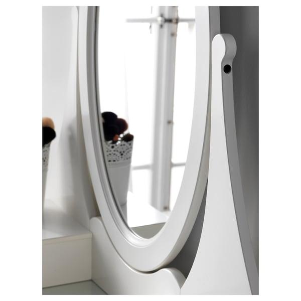 HEMNES kampauspöytä ja peili valkoinen 100 cm 50 cm 159 cm