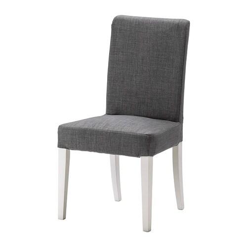 HENRIKSDAL Tuoli , valkoinen, Skiftebo tummanharmaa