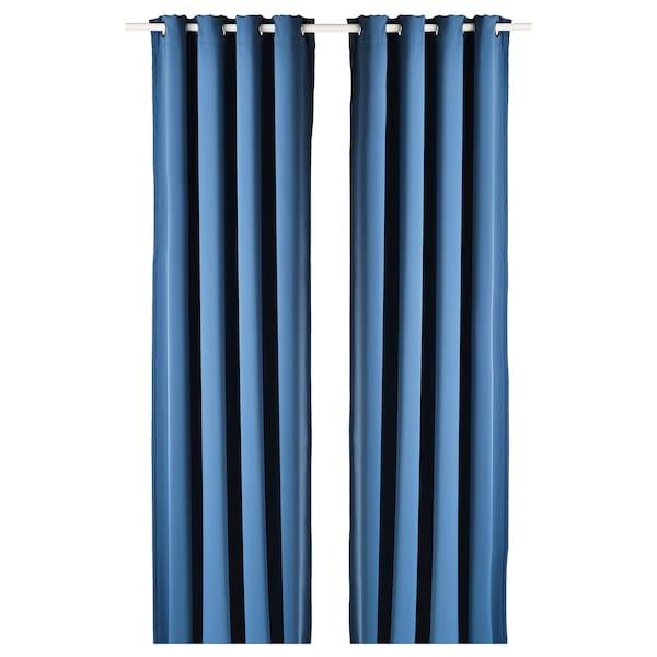 HILLEBORG Osittain pimentävät verhot, 2 kpl, sininen, 145x250 cm