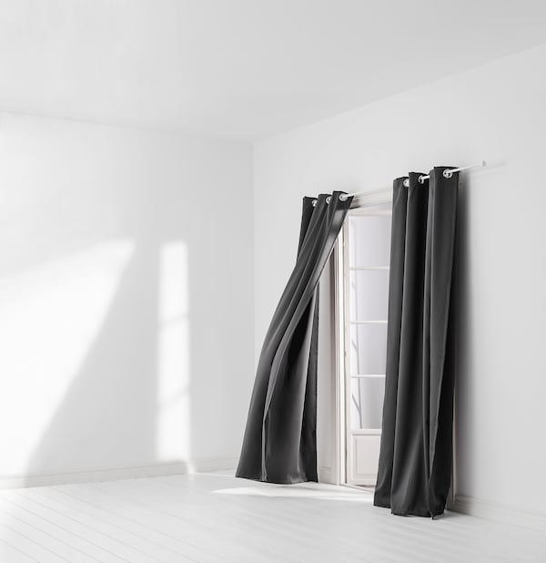 HILLEBORG Pimennysverhot, 2 kpl, harmaa, 145x250 cm