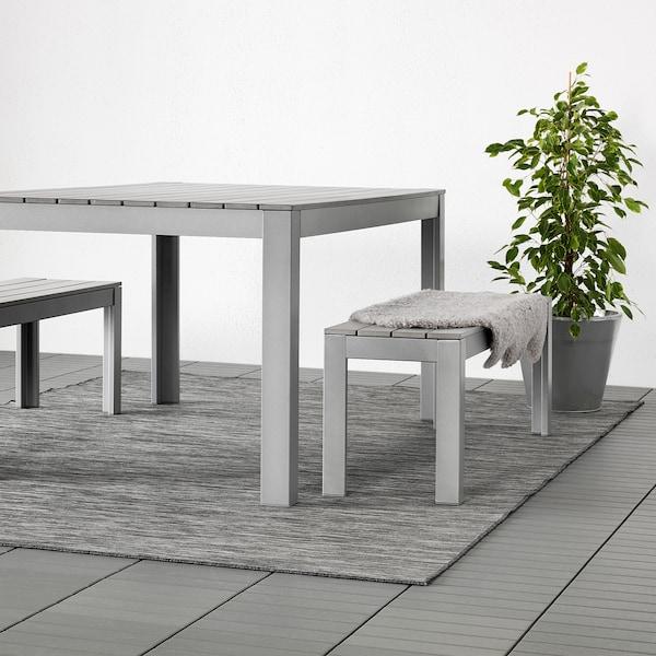 HODDE Matto, kudottu, sisä-/ulkokäyttöön, harmaa/musta, 200x300 cm