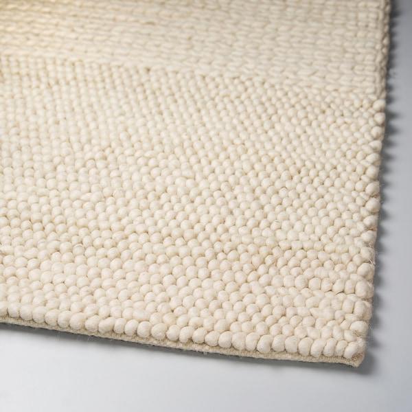 IBSKER Matto, käsin tehty luonnonvalkoinen, 170x240 cm