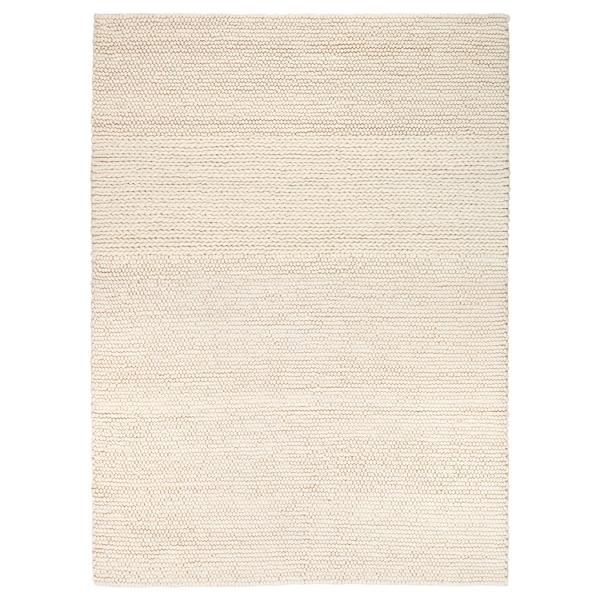 IBSKER matto käsin tehty luonnonvalkoinen 240 cm 170 cm 4.08 m²