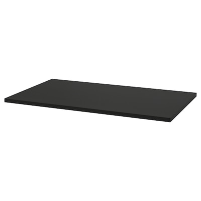 IDÅSEN Pöytälevy, musta, 120x70 cm