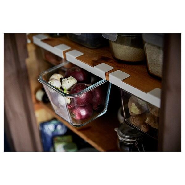 IKEA 365+ ruoansäilytysastia 4-kulmainen/lasi 15 cm 15 cm 11 cm 1.2 l