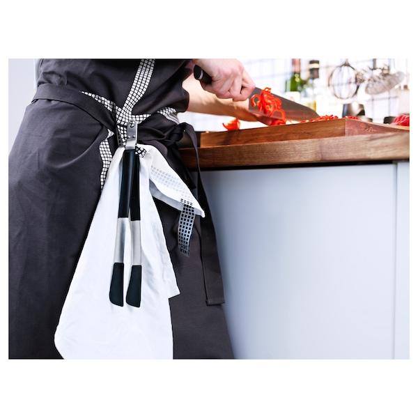 IKEA 365+ HJÄLTE Pihdit, ruostumaton teräs/musta