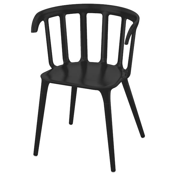 IKEA PS 2012 käsinojallinen tuoli musta 110 kg 52 cm 46 cm 76 cm 41 cm 40 cm 46 cm