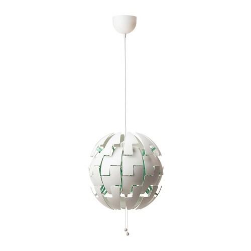 IKEA PS 2014 Kattovalaisin , valkoinen, turkoosi Halkaisija: 35 cm Johdon pituus: 150 cm