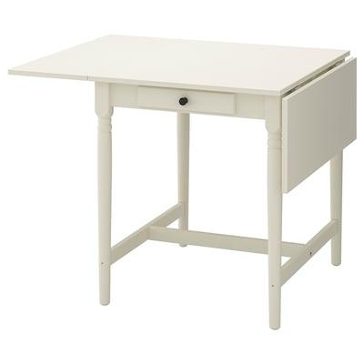 INGATORP Klaffipöytä, valkoinen, 65/123x78 cm