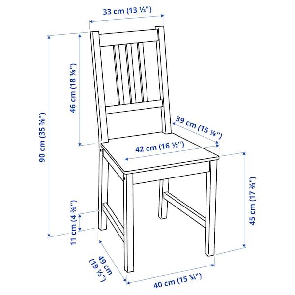 INGATORP / STEFAN Pöytä + 2 tuolia, mustanruskea/ruskeanmusta, 65/123x78 cm