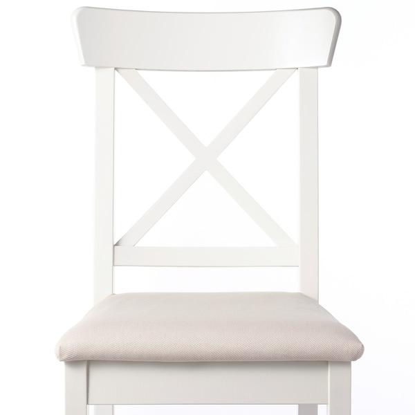 INGOLF Tuoli, valkoinen/Hallarp beige