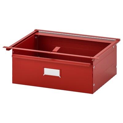 IVAR Laatikko, punainen, 39x30x14 cm
