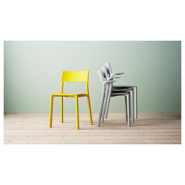JANINGE Käsinojallinen tuoli, harmaa