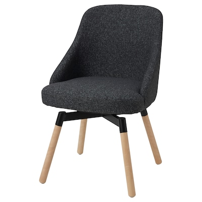 JANOLOF Pyörivä ruokapöydän tuoli, Gunnared tummanharmaa