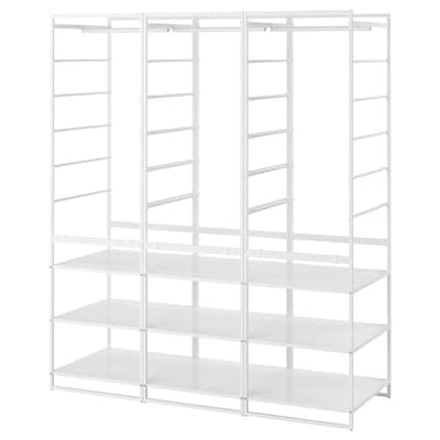 JONAXEL Vaatekaappikokonaisuus, valkoinen, 148x51x173 cm