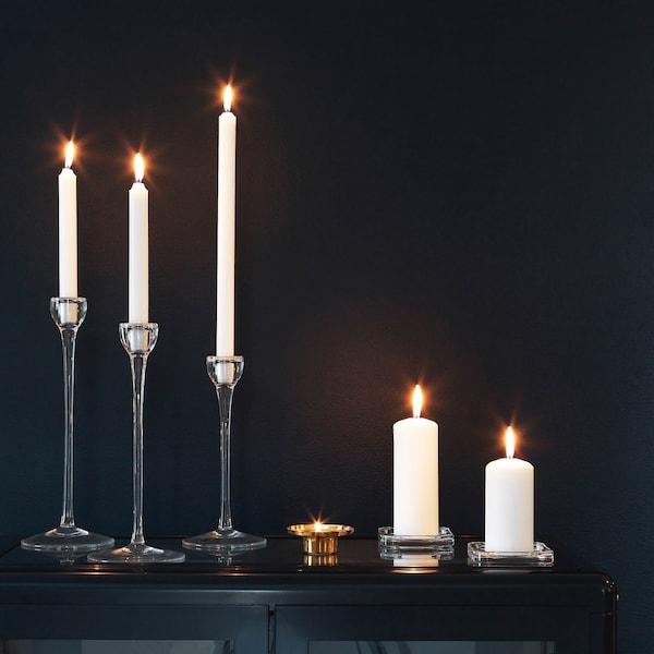 JUBLA Kynttilä, valkoinen, 35 cm