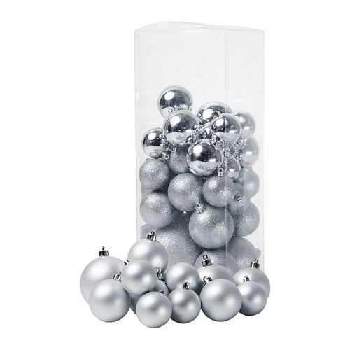 JULMYS Koristepallo, 50 kpl IKEA Kestävät koristeet eivät mene rikki, vaikka ne putoaisivat lattialle.