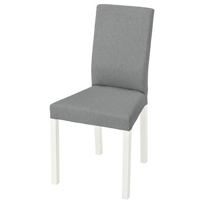 KÄTTIL Tuoli, valkoinen/Knisa vaaleanharmaa