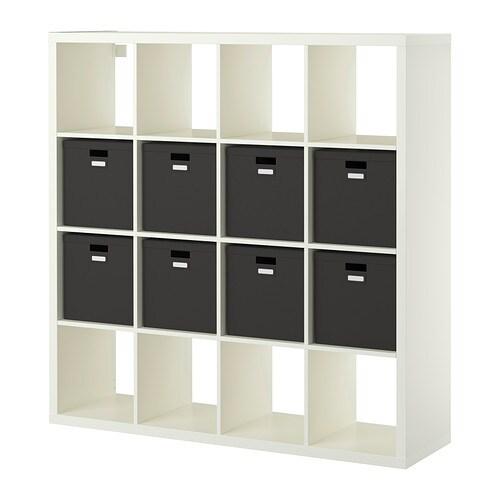 KALLAX  TJENA Hylly ja 8 sisustetta  valkoinen  IKEA