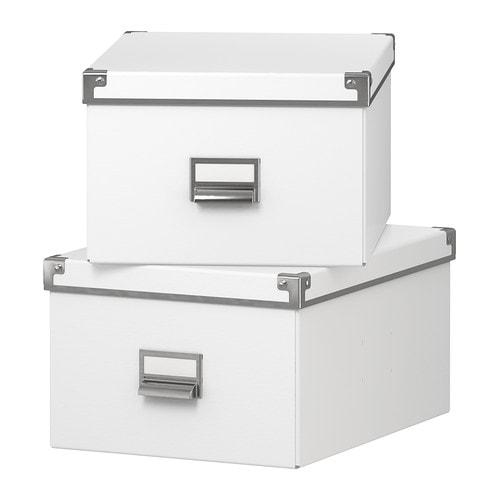 KASSETT Kannellinen laatikko  valkoinen, 27x35x18 cm  IKEA