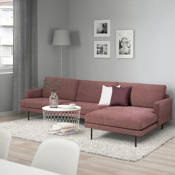 KLINTORP 4:n istuttava sohva, divaanilla, oikea punaruskea