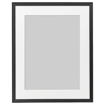KNOPPÄNG Kehys ja kehyskartonki, musta, 40x50 cm