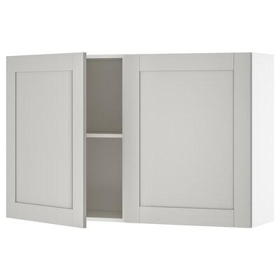 KNOXHULT Seinäkaappi+ovet, harmaa, 120x75 cm