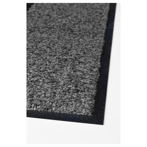 KÖGE Kynnysmatto, harmaa/musta, 69x90 cm