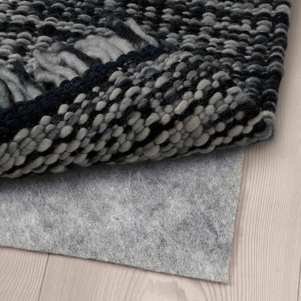 KÖPENHAMN Matto, kudottu, käsin tehty tummanharmaa, 200x300 cm