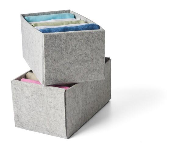 KOMPLEMENT laatikko vaaleanharmaa 15 cm 26.5 cm 12 cm 2 kpl