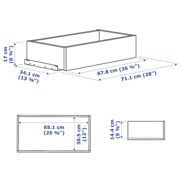 KOMPLEMENT Laatikko, mustanruskea, 75x35 cm
