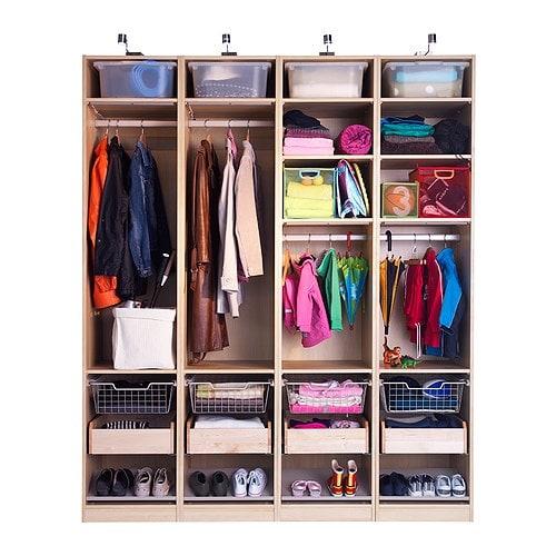 KOMPLEMENT Laatikko IKEA Ulos vedettävä. Sisältö on helposti nähtävissä ja saatavilla.