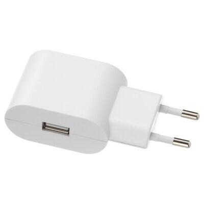 KOPPLA 1-paikkainen USB-laturi valkoinen 46 mm 39 mm