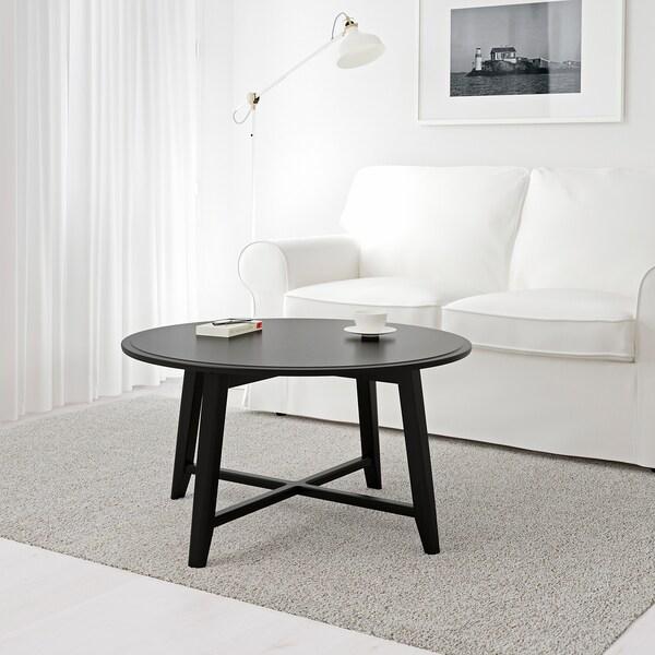 KRAGSTA sohvapöytä musta 48 cm 90 cm
