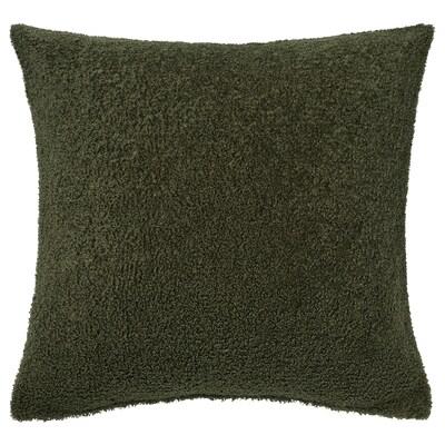 KRYDDBUSKE Tyynynpäällinen, tummanvihreä, 50x50 cm