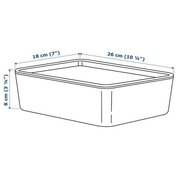 KUGGIS Kannellinen säilytyslaatikko, turkoosi, 18x26x8 cm