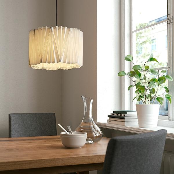 KUNGSHULT Lampunvarjostin, pliseerattu valkoinen, 33 cm