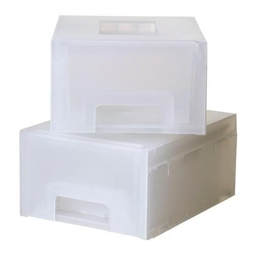 KUPOL Säilytyslaatikko , valkoinen Leveys: 13 cm Syvyys: 18 cm Korkeus: 8 cm Kappaletta pakkauksessa: 2 kpl