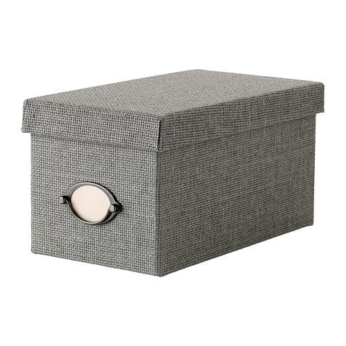 KVARNVIK Kannellinen laatikko , harmaa Pituus: 16 cm Leveys: 29 cm Korkeus: 15 cm