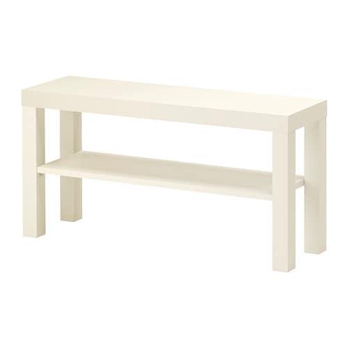 LACK Tv-taso IKEA Avoimen takaosan ansiosta johdot on helppo järjestää.