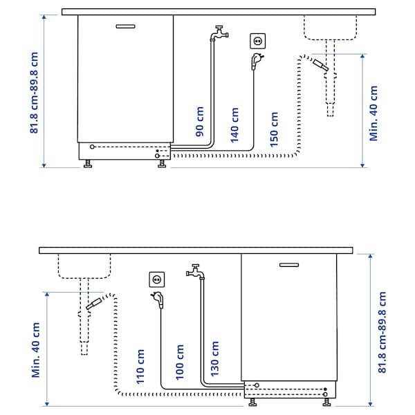 LAGAN Integroitava astianpesukone, 60 cm