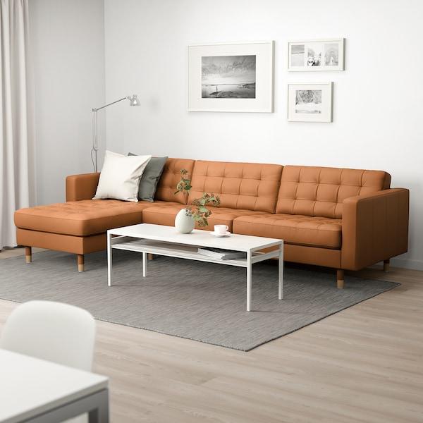 LANDSKRONA 4:n istuttava sohva, divaanilla/Grann/Bomstad kullanruskea/metalli