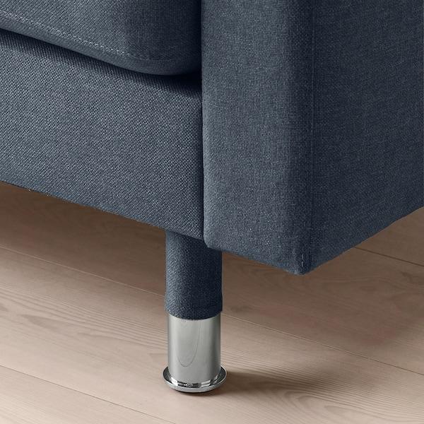 LANDSKRONA 5:n istuttava sohva, divaanien kanssa/Gunnared sininen/metalli